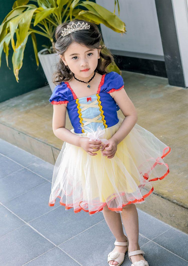 Kids Cosplay Clothing Snow White Cosplay Dresses Girls Princess Dress Kids  Dresses Kids Halloween Costume LA493