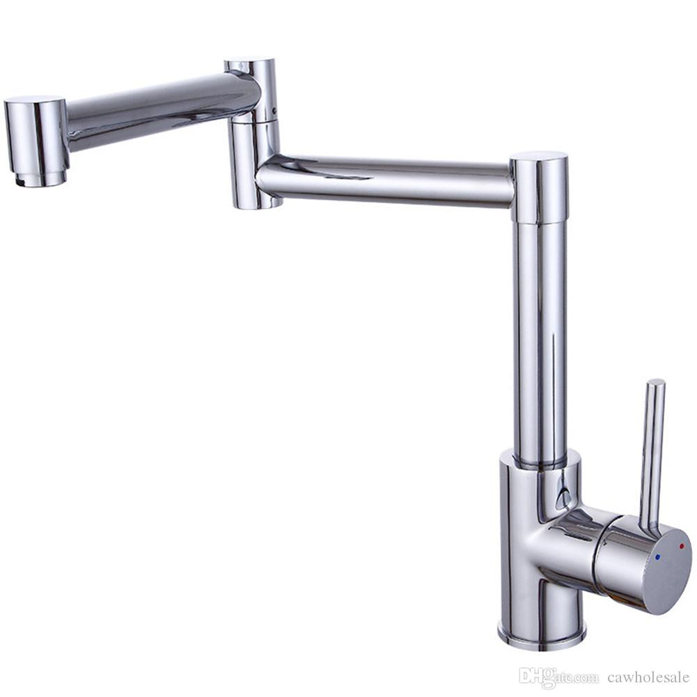Folding Stretchable Double Joint Swing Arm Faucet Universal Rotation ...
