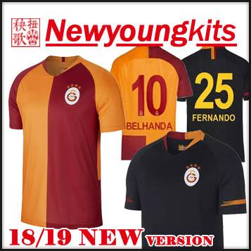 2019 2018 19 Galatasaray Soccer Jersey 18 19 Away Black Football ... 795695c12