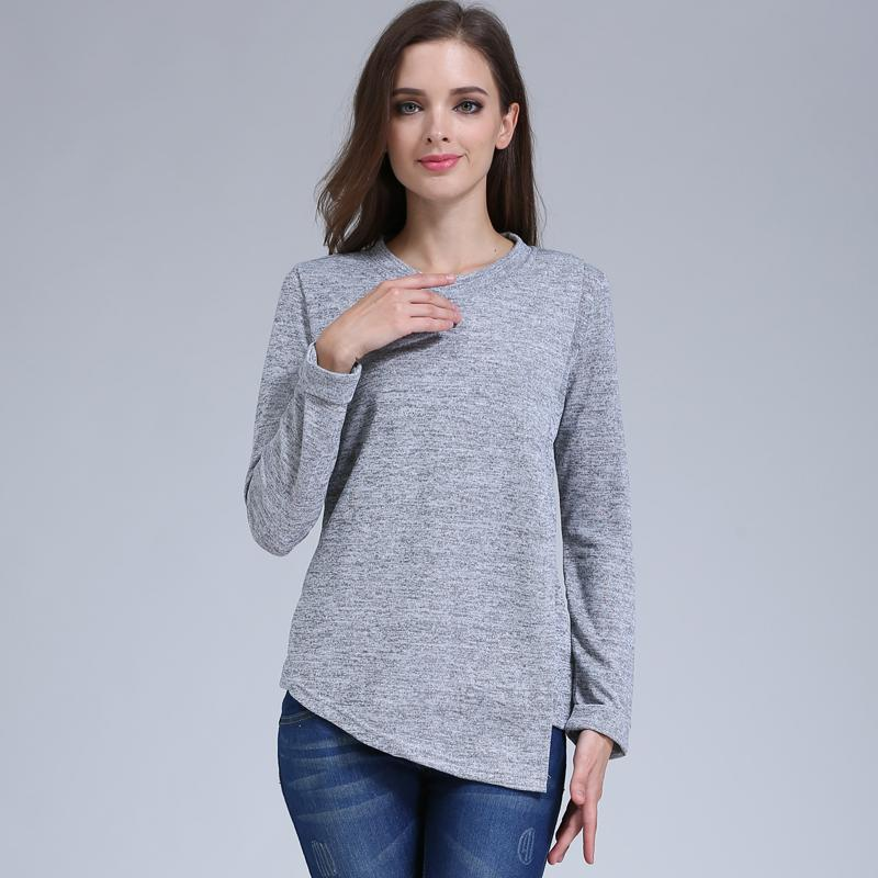 d44ea4e968973 2019 Emotion Moms Fashion Maternity Clothes Long Sleeve Maternity Tops  Nursing Top Breastfeeding Clothes For Pregnant Women T Shirt From Okbrand,  ...
