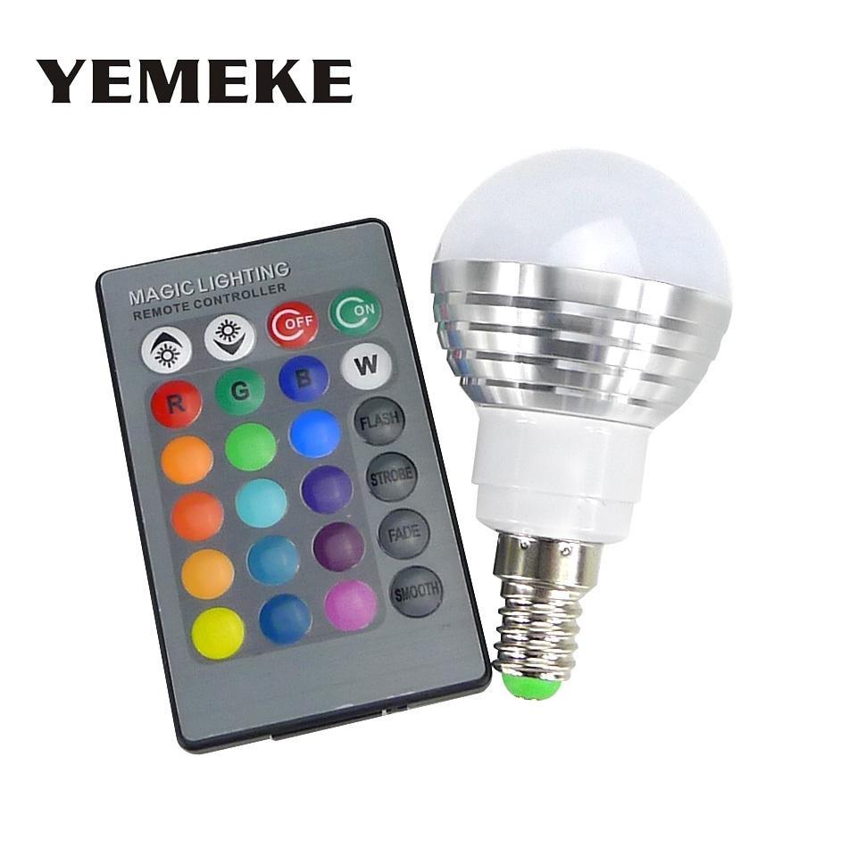Rgb Ampoules De Led 24keys Ampoule E14 DimmableTélécommande Changement 16 Lampe Couleur Spot 3w E27 Tubes ywO0Nnvm8
