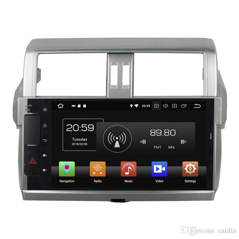 Car DVD player for Toyota Prado 2014-2015 10.1inch Octa core Andriod 8.0 with GPS,Steering Wheel Control,Bluetooth,Radio