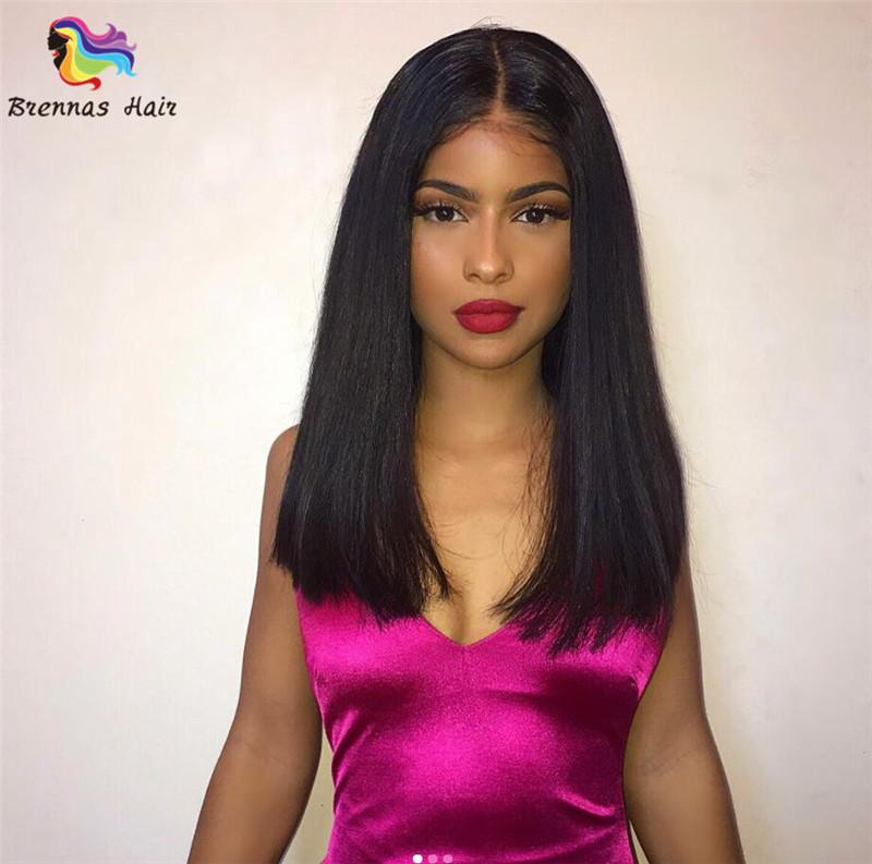 new style female Short BOB Wigs For Black Women 8-14inch Short Straight natural Black 100% lace front human hair Wig