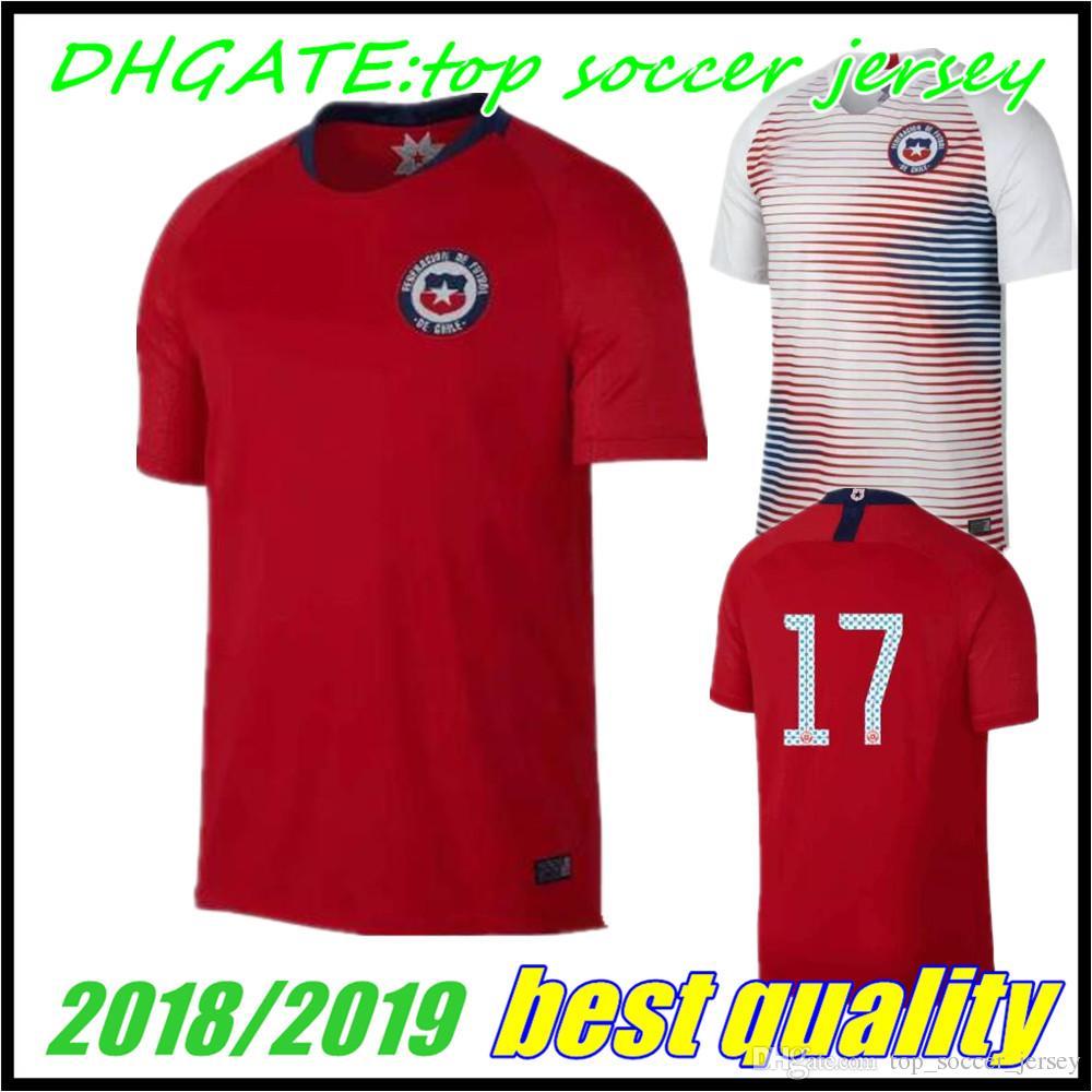 ... ebay 2018 2018 world cup home away jersey 18 19 chile soccer jerseys  sanchez alexis vidal 2c53e95fd