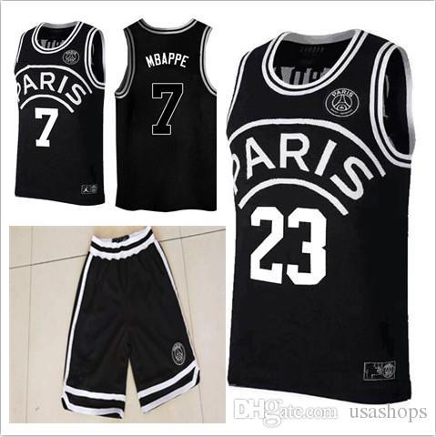 2018 Psg Jerseys 23 Michael Neyma 10 Jr Shorts Black 7 Mj Mbappe