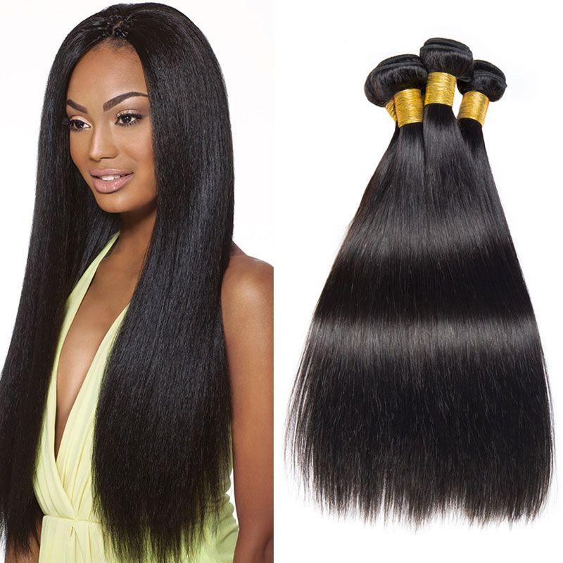 Brazilian Straight Hair Bundles 16 18 20 Inch Human Hair Weave Bundles  Natural Black Brazilian Human Hair Weave For Sale 100 Human Hair Weave  Curly Human ... 3bd8078e7561