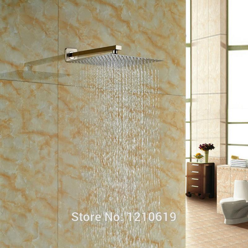 2018 Newly 12 Inch Square Bathroom Top Shower Head Nickel Brushed Rain  Shower Spray Head W/ Arm From Dtanya, $62.48 | Dhgate.Com