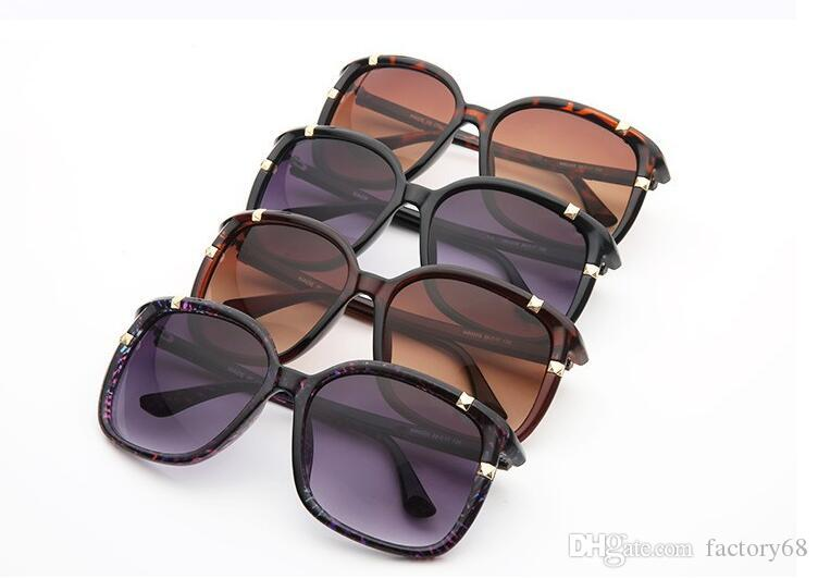 fashion brand sunglasses for women Brand sunglasses 80200 large frame sun glasses high-grade anti-UV sunglasses A+++ Quality