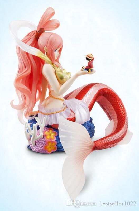 22 CM Tek Parça Shirahoshi Hime Aksiyon Figürleri PVC Doll Anime Oyuncaklar Japon Karikatür Mermaid Prenses Bebek Oyuncakları