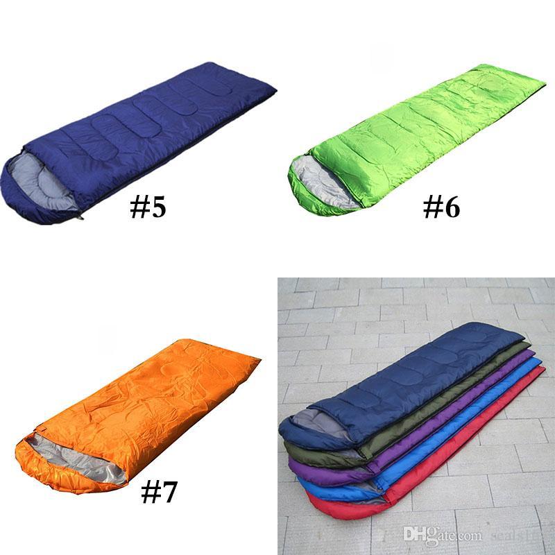 جديد بطانية في أكياس النوم الاحترار واحد كيس النوم عارضة للماء البطانيات مغلف التخييم سفر التنزه كيس النوم HH7-814