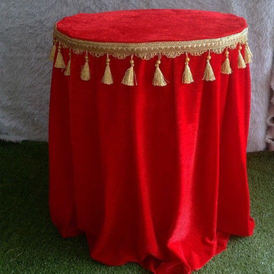 Spandex kadife 1.5 m çapı kırmızı yuvarlak masa örtüsü masa örtüsü Ücretsiz Nakliye Ile 1 ADET Fiyat
