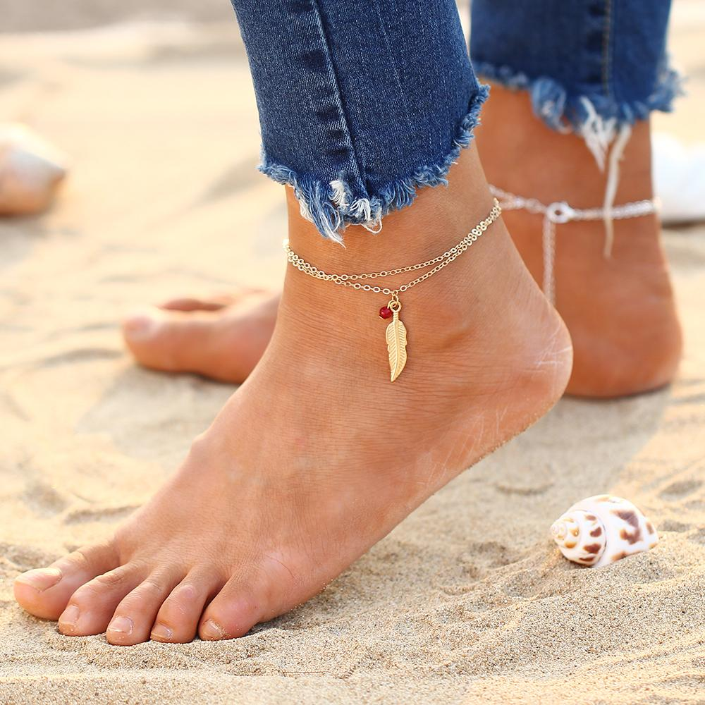 foot for anklet pin link chain hollow gold big plated thick silver women anklets out ankles