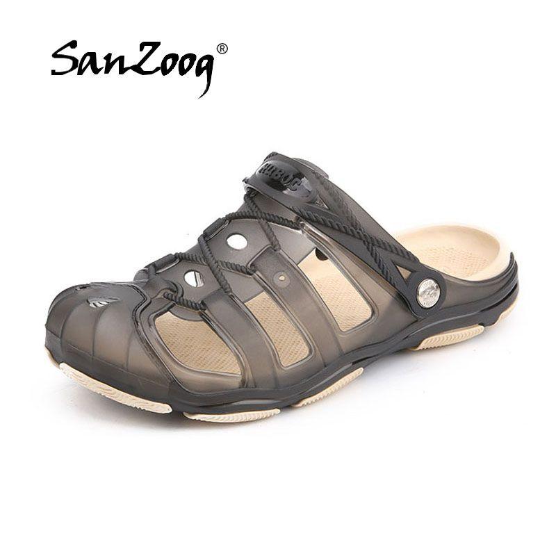 9876221d1 New Jelly Shoes Men 2018 Summer Beach Sandals Hollow Slippers Outdoor Slip  On Beach Men Shoes Leisure Mens Sandals Silver Shoes Mens Sandals From  Bestname