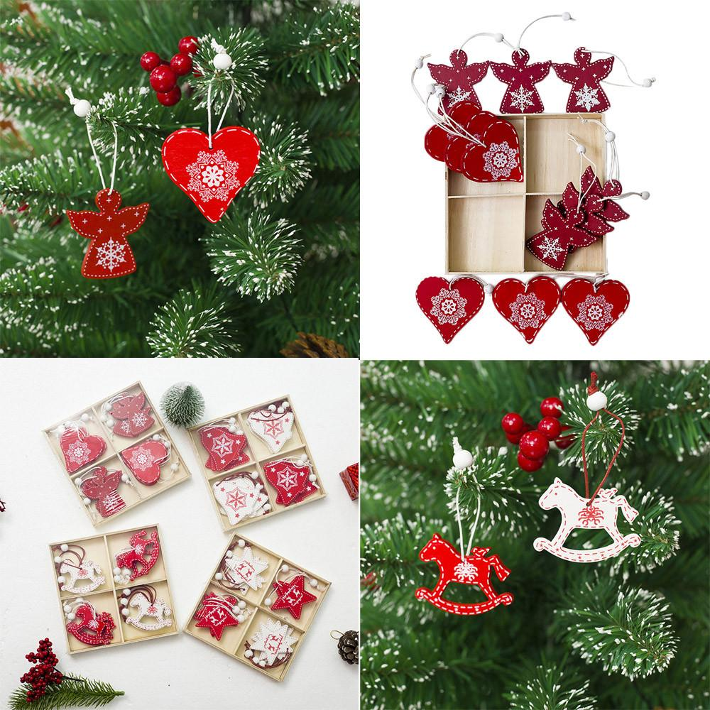 Xmas DIY Wooden Pendant Pretty Xmas Ornament Christmas Tree ...