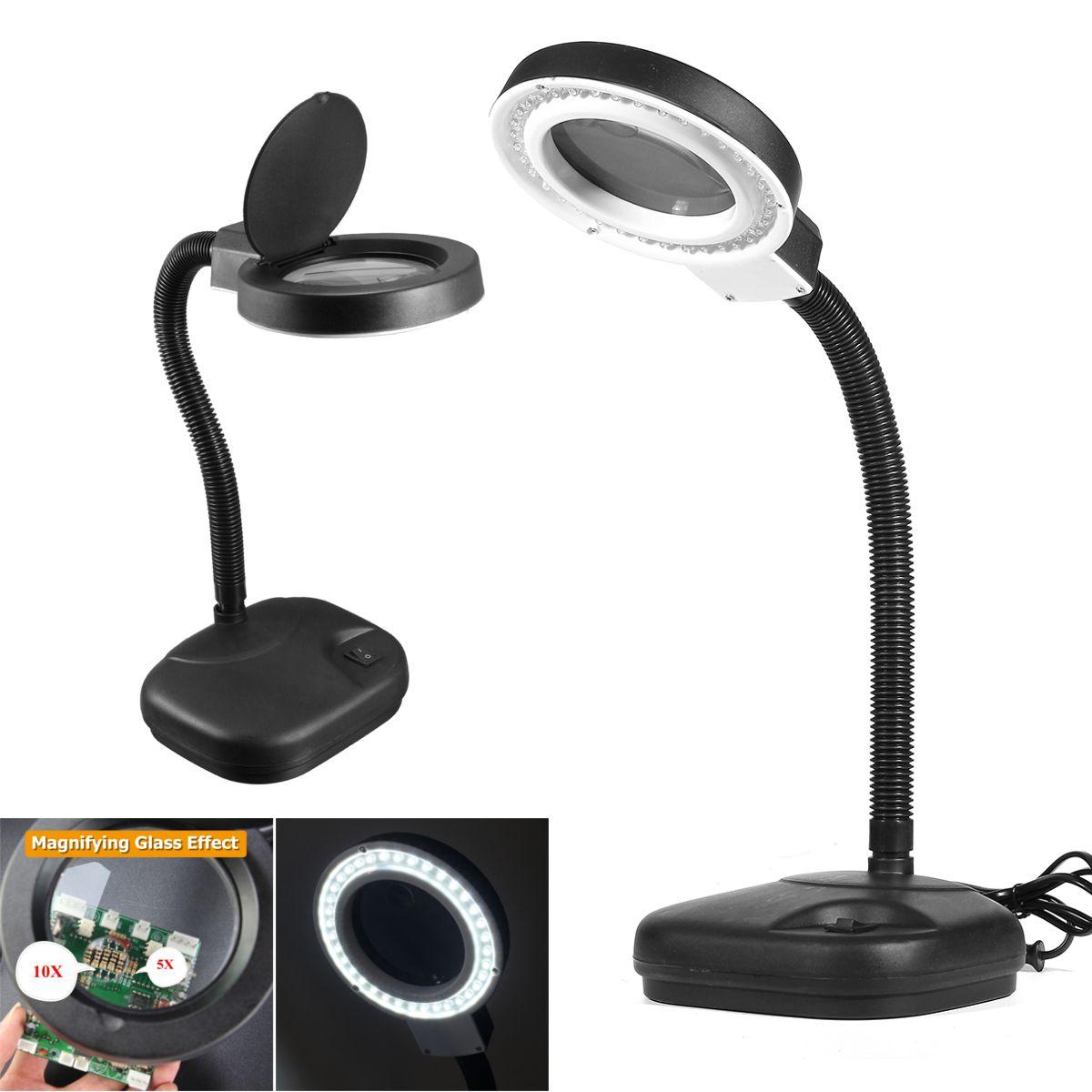 Lentille En 5x 40 Bureau Lampe Réparation Leds Artisanat 10x Verre De Daylight Loupe Led Outils tshrQd