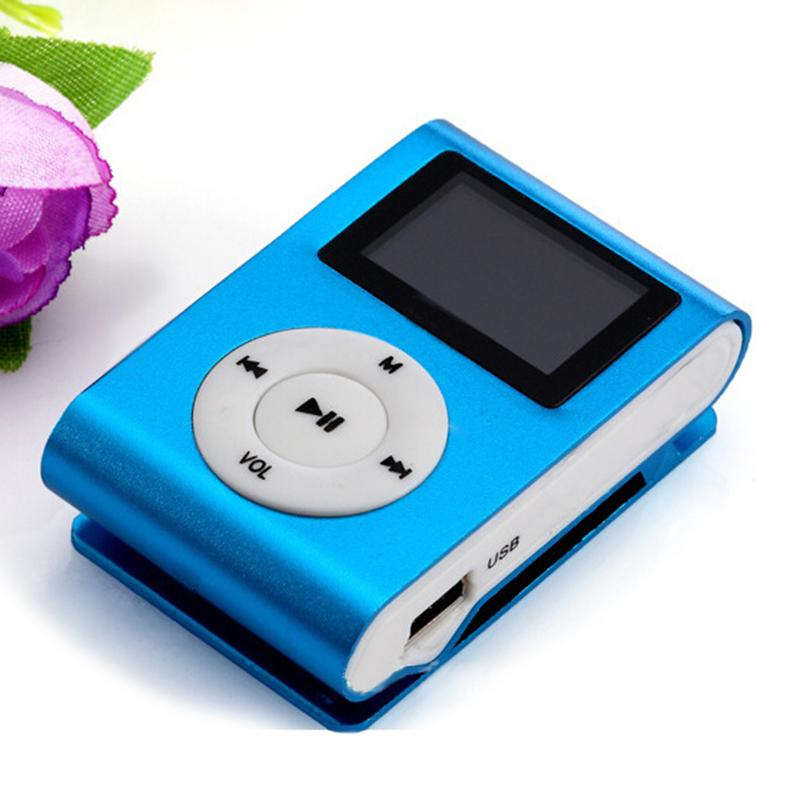 Hot Sale Fashion Mini Usb Clip Mp3 Player Lcd Screen Support 32gb