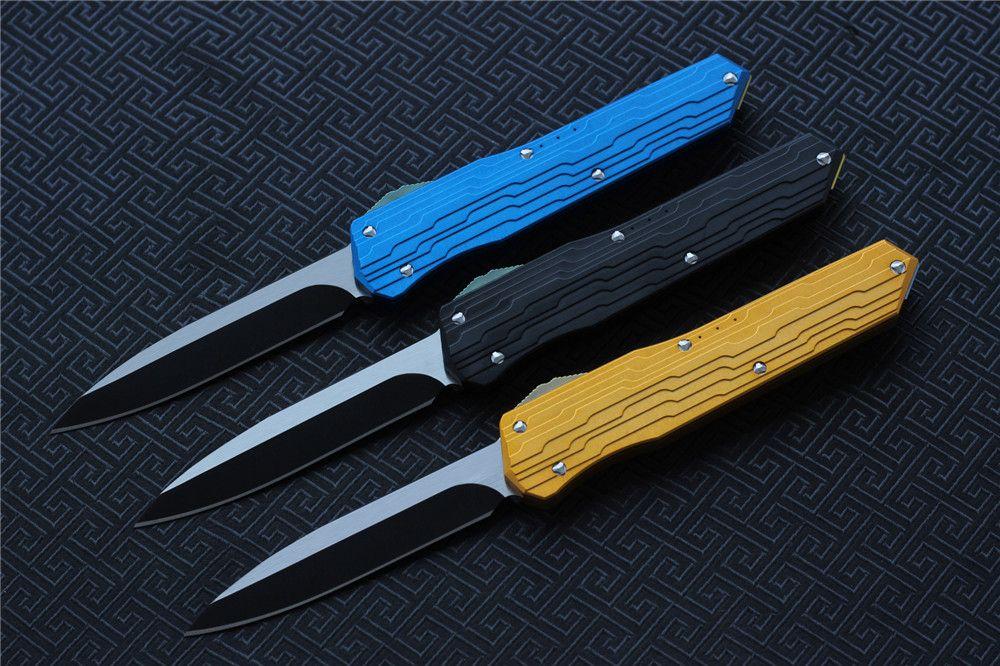 High quality VESPA Version folding Knife Blade:M390StoneWash Handle:7075Aluminum+TC4,Outdoor camping survival knives EDC tools