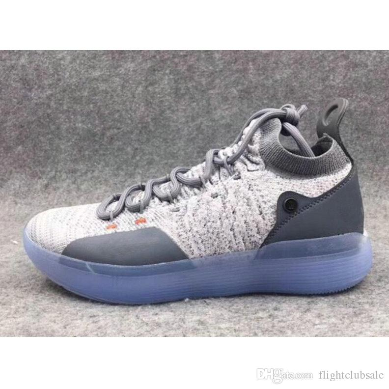 e0ac662dad0a 2018 KD 11 Cool Grey Paranoid EYBL Basketball Shoes KD 11s Men Kevin Durant  Sneakers Shoes On Sale Cheap Sneakers From Flightclubsale