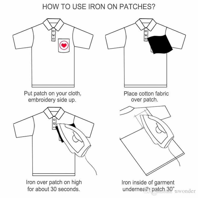 Crânio Bordado Patches Para Roupas Hippie Punk Sew Iron On Applique Remendo Dos Desenhos Animados DIY Garment Jeans Emblema