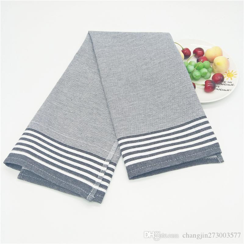 5pcs Nordic style simple black and white striped pure cotton western napkin, table mat, tea towel gastronomic photography background cloth 5