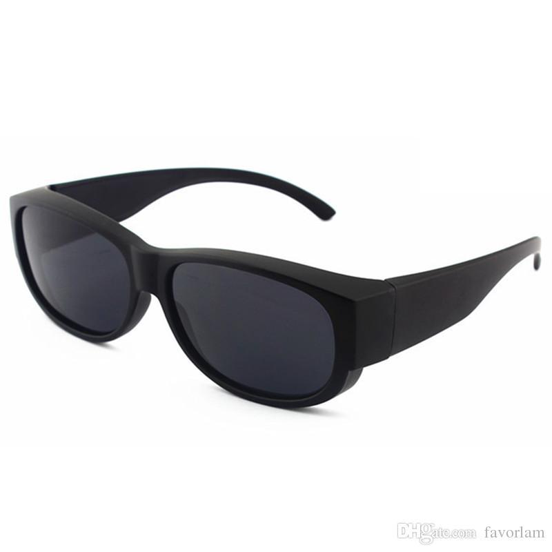 291ca6ccd8 2019 NEW Solar Shield Polarized Lens UV400 Fit Over Sunglasses Wear Over  Prescription Glasses For Men Women Glasses Cover Sun Glasse From Favorlam