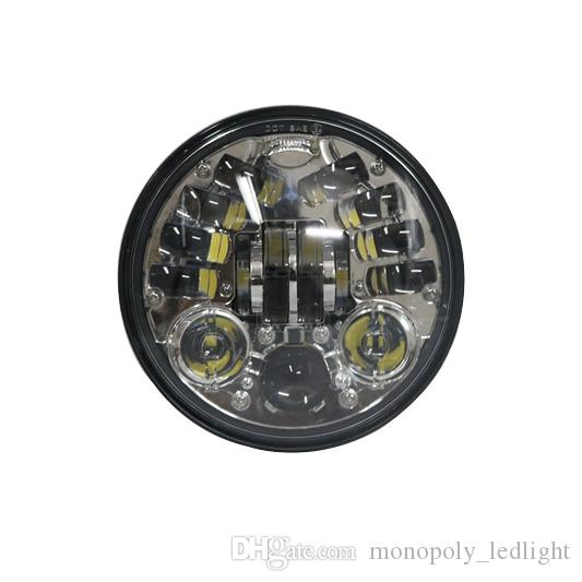 5.75inch Chrome LED faro con función de señal de giro para Night Road 883 750 48 72 Indian Scout