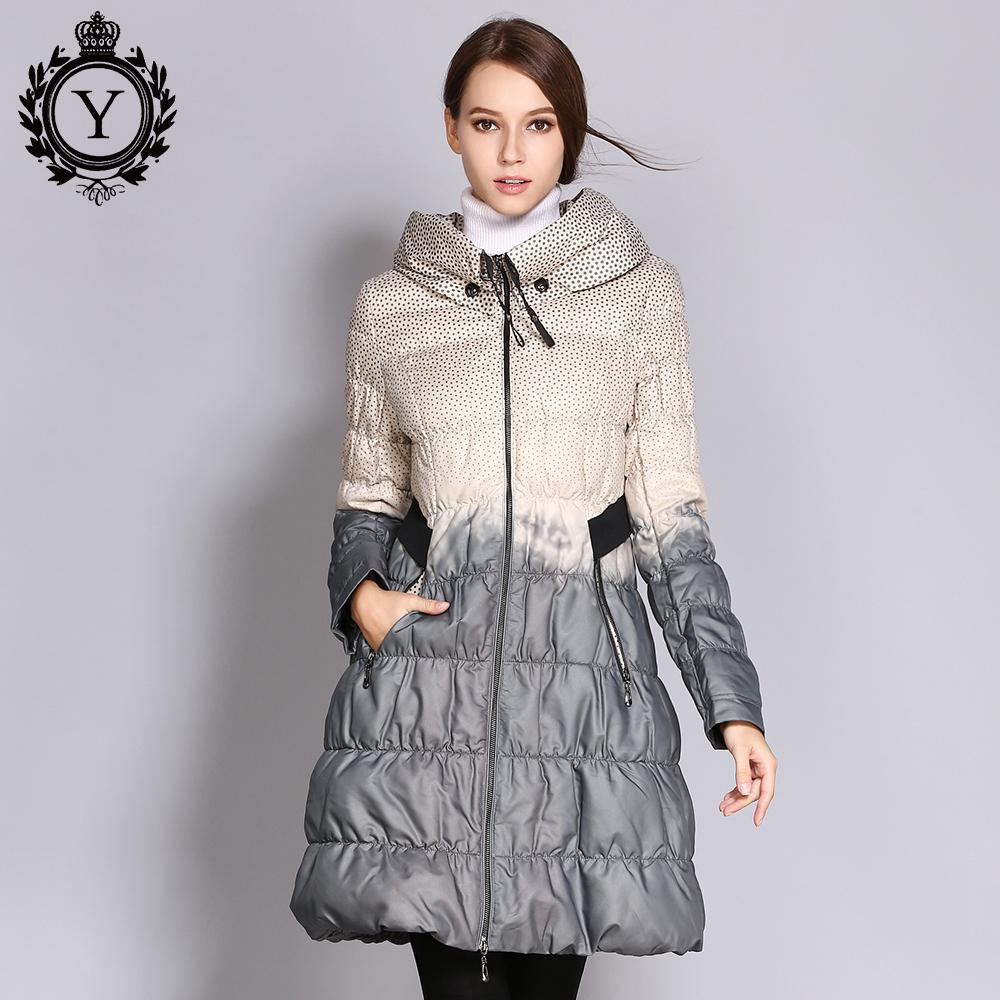 fec4a287b2134 2018 COUTUDI 2017 Winter Plus Size Down Coat Women Parkas Female Long Duck  Down Padded Jacket Hit Color High Quality Women S Clothing S1031 From  Ruiqi02