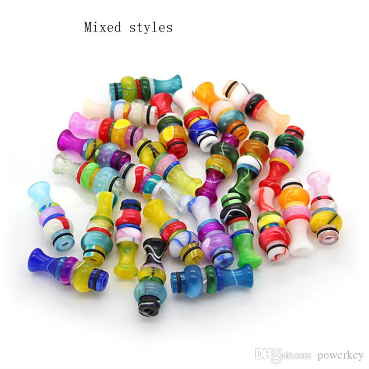 E cig 510 With Drip Tips EGO Acrylic Candy Drip Tips Mouthpiece fo 510 Threading Electronic Cigarette EGO Acrylic Candy Drip Tips Epacket