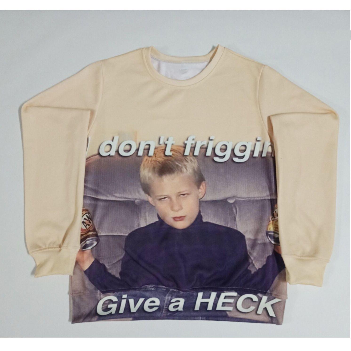 ef625fd3e 2019 Real USA Size I Don'T Friggin 3D Sublimation Printing Sweatshirt  Crewneck Plus Size 3XL 4XL 5XL 6XL From Onlyforfashion, $24.22 | DHgate.Com