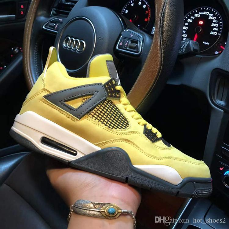 fdcabdee61e 2019 Air 4 LS Lightning 314254 702 4s IV Yellow Men Fashion Height  Increasing Sports Shoes Sneakers Top Quality With Original Box From  Hot_shoes2, ...