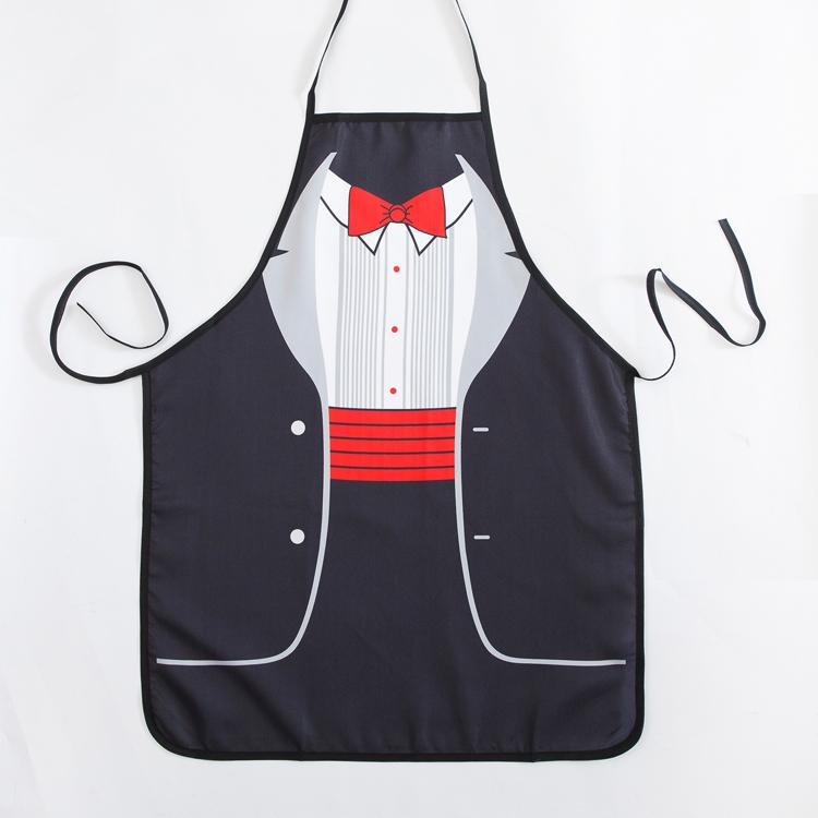 Funny Aprons Novelty Gentleman Formal Dress Cooking Apron For Fancy