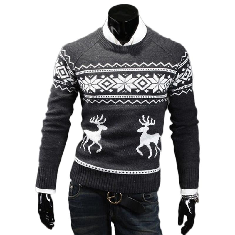 2018 Men Ugly Deer Christmas Sweater Autumn Winter Jesus Knitted ...