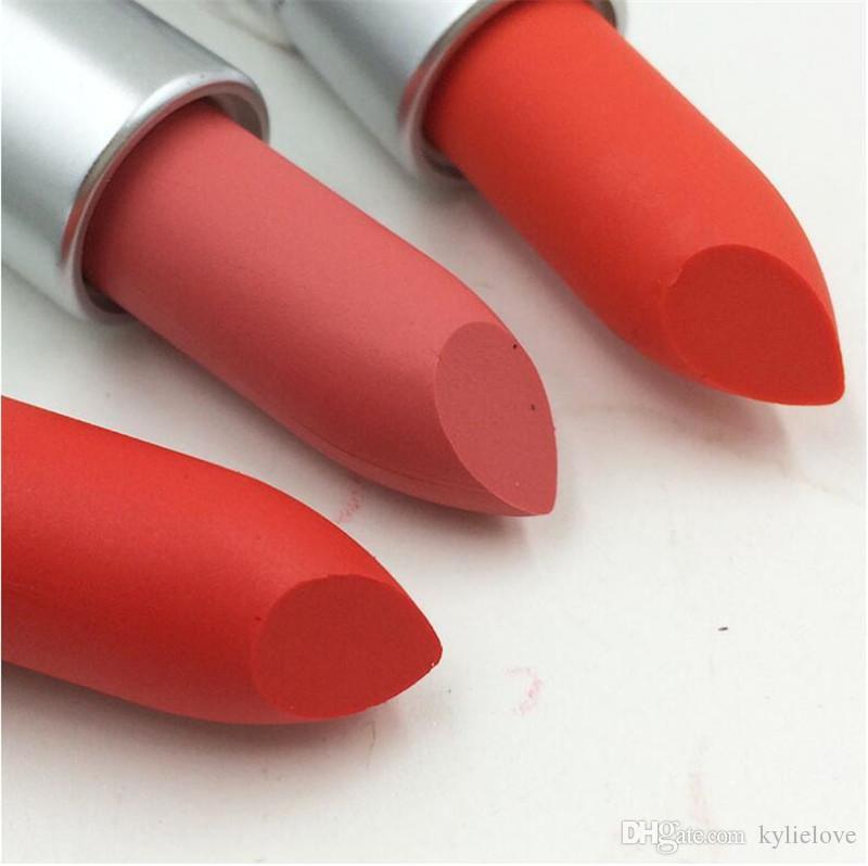 2018 hot matte Lipstick M Makeup Luster Retro Lipsticks Frost Sexy Matte Lipsticks 3g lipsticks with English Name