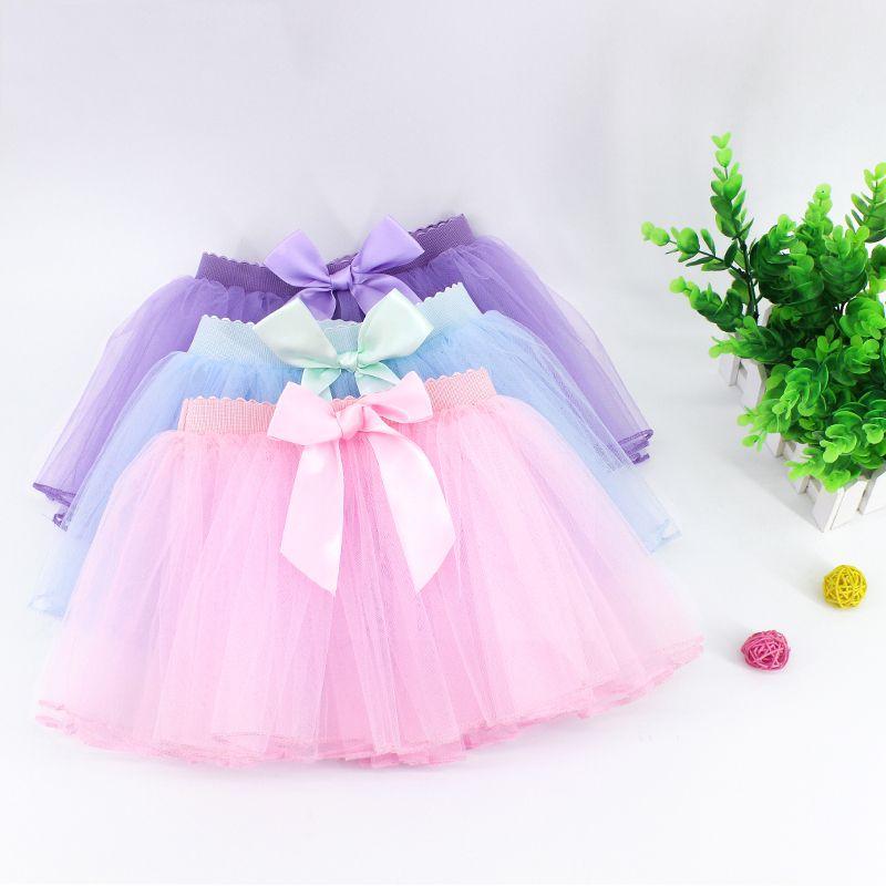 987a2bfd5c 2019 Toddler Kids Bowknot Tulle Skirt Children Girls Elastic Waist Ballet  Dance Skirt Cute Dance Tutu From Hongyeli, $36.65 | DHgate.Com