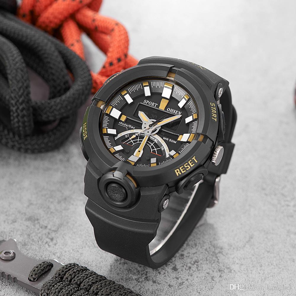 d54db3fd655 Compre Nueva Llegada Ohsen Moda Reloj Deportivo De Cuarzo Reloj Digital  Hombres Correa De Goma Muñeca De Los Hombres Relojes Deportivos Relogio  Cronómetro A ...