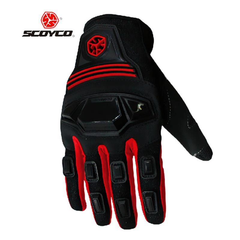 Scoyco MC24 Anti-dérapant Moto PVC Full Finger Gants Équipement De Protection Motocross Auto Racing En Plein Air Sportswear Vêtements