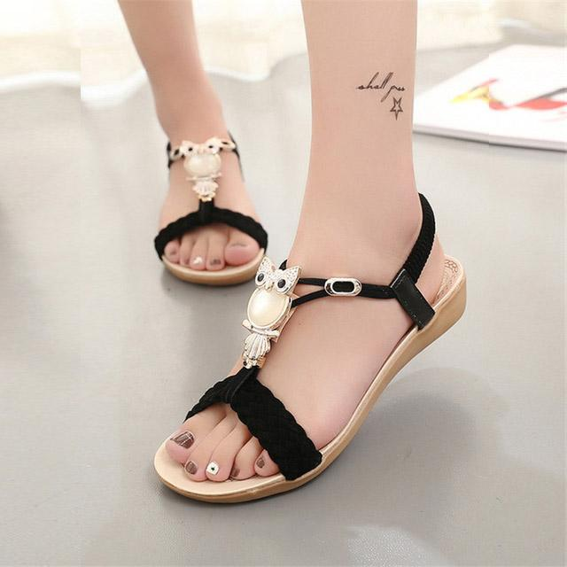 9986b479f9 Women Sandals 2017 Hot Bohemia Beaded Owl Wedge Sandals Women Flip Flop  Summer Style Shoes Woman Shoes Sandals Summer Sandals Men Sandals From  Nice_coltd, ...