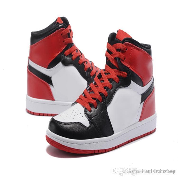 on sale a04e4 a6b70 Großhandel Nike Air Jordan 1 Aj 1 Top Basketballschuhe Homage To Home  Herren 1 Og Sneakers Aaa Qualität Mandarinente Schwarz Rot Weiß Männer  Sportschuhe ...