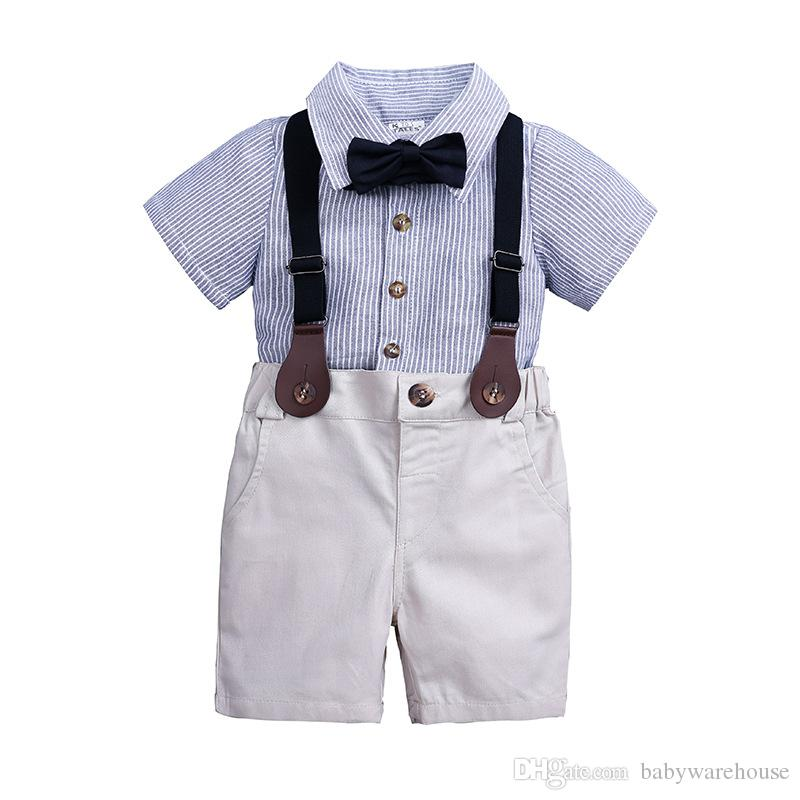 aa30a5c9c 2018 Spring Gentleman Style Infant Clothes Baby Clothing Sets