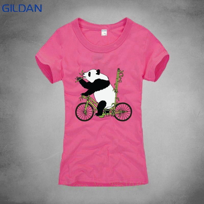 051d48eb6 Cute Riding Panda Funny Printing T Shirt Lady Short Anti Wrinkle O Neck T  Shirt Top Quality T Shirt For Lady 2018 Online Buy T Shirts Tna Shirts From  ...