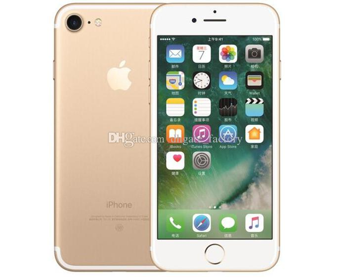 100% Original 4.7inch 5.5inch Apple iPhone 7 Plus IOS 4G LTE 12MP With Fingerprint Unlocked Refurbished Mobile Phone Cell Phones DHL Free