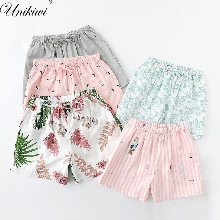 2019 UNIKIWI.Cute Summer Sleep Bottoms Cotton Pajama Shorts Women S Loose  Drawstring Pajama Pants Plus Size M XL Lounge.From Begonier 29859dc83