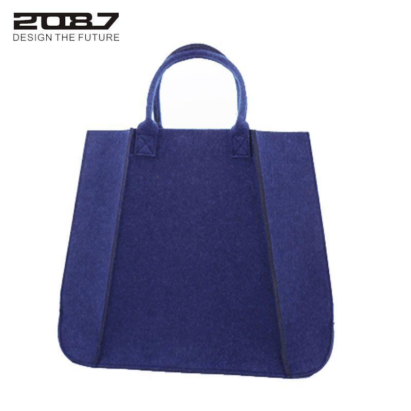 2087 New Design Felt Handbag Female Fashion Shoulder Bags Large Casual Totes Shopping Bag Ladies Felt High Thickness Handbag