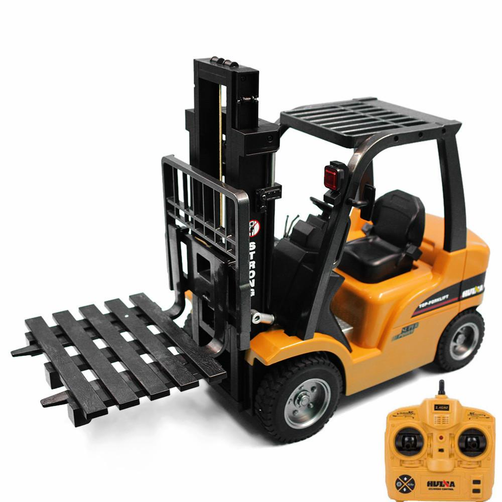 HUINA 1577 2 In 1 RC Forklift Truck / Crane RTR 2.4GHz 8CH / 360 Degree  Rotation Auto Demonstration LED Light Kids Toys Buy Remote Control Cars  Petrol Rc ...