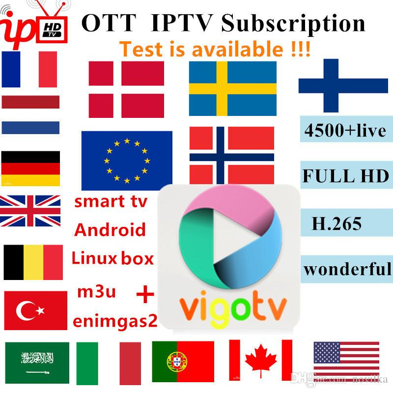 VigoTV French IPTV Europe Arabic Sweden Norway Netherland Germany Italy  Turkey UK USA Canada H 265 HD m3u android enigma2 smart