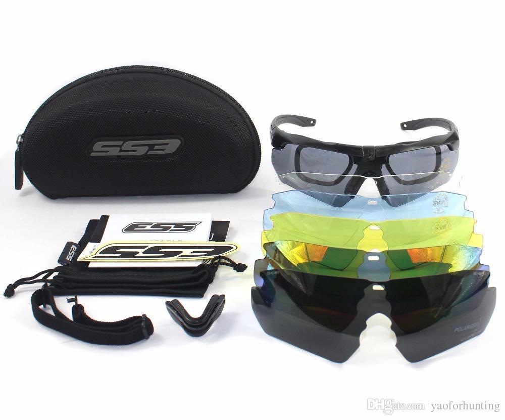 CROSSBOW Goggles 3 / 5Lens TR 90 Hombres Gafas de sol tácticas hombre Army Bulletproof Outdoor Airsoft Shooting glasses