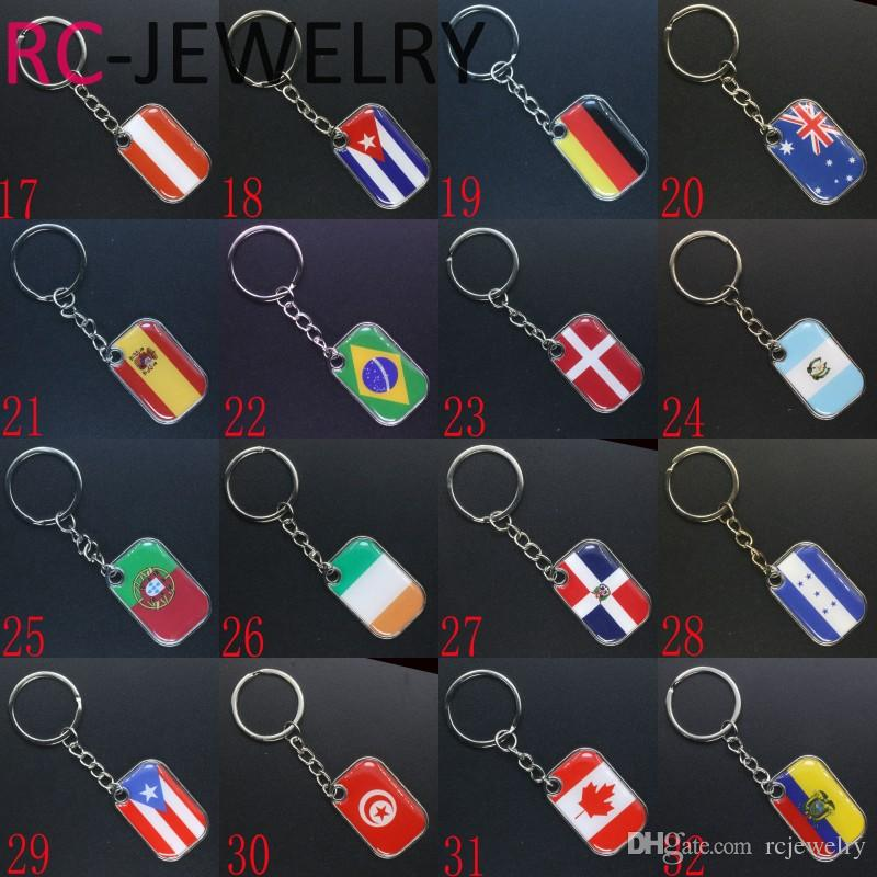 World Cup Football Keychain Panama Flag Pattern Soccer Game Keyring Men Car Key Chains Souvenir Gift 2018