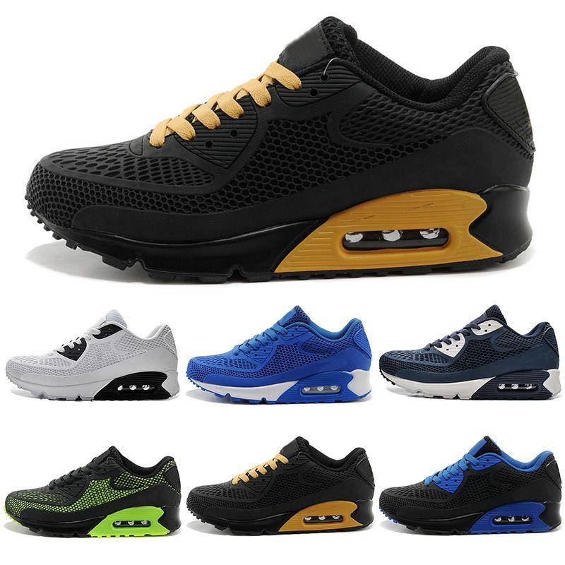 31d8ee33 Compre Nike Air Max Airmax Running 2018 Novos Sapatos Casuais Almofada 90  Kpu Homens De Alta Qualidade Sneakers Barato Todos Preto Calçados  Desportivos ...