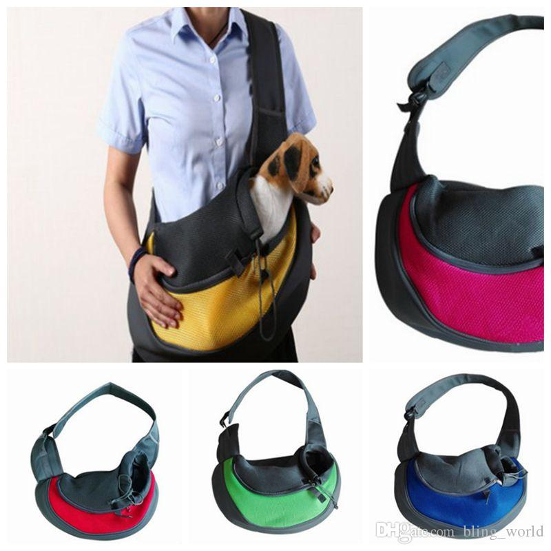 fbe1164611e 2019 Pet Dog Front Carrier Cat Mesh Travel Tote Small Dog Shoulder Bag  Comfortable Dog Backpack YW356 From Bling_world, $10.54 | DHgate.Com