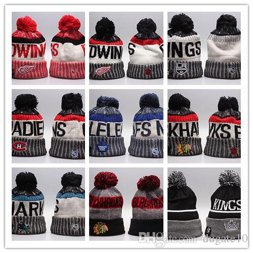 Hot Selling Winter Knitted Wool Hats NHL Women And Men Sport Caps Hiphop Beanies Warm Hat Mix More 5000+Styles